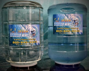 5 Gallon Glass Bottle or Poly Carbonate for Delivery in Santa Barbara.1